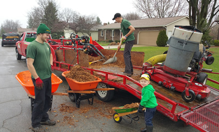 Mulch Installation by Jack's Lawn Service & Snowplowing