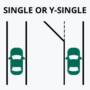 Single Lane Driveway Graphic
