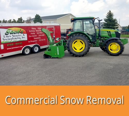 Commercial Snow Removal by Jack's Lawn & Snowplowing, Inc.
