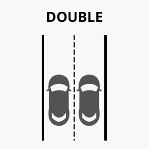 Double Lane Driveway Graphic