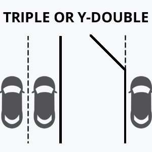 Triple Lane Driveway Graphic